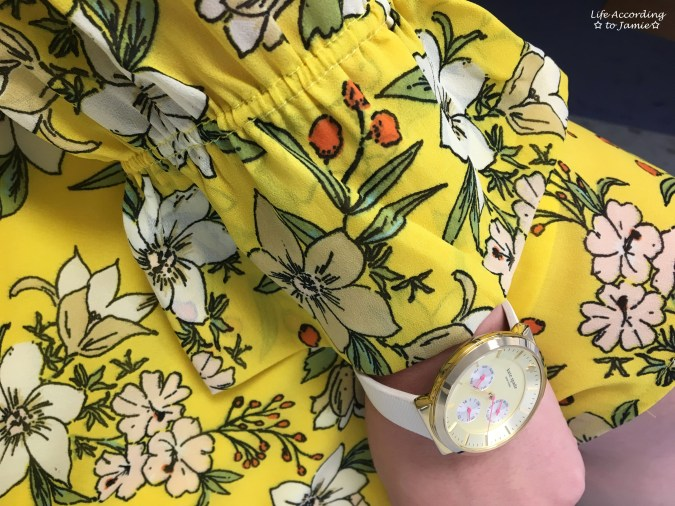Yellow Floral Shift Dress 2