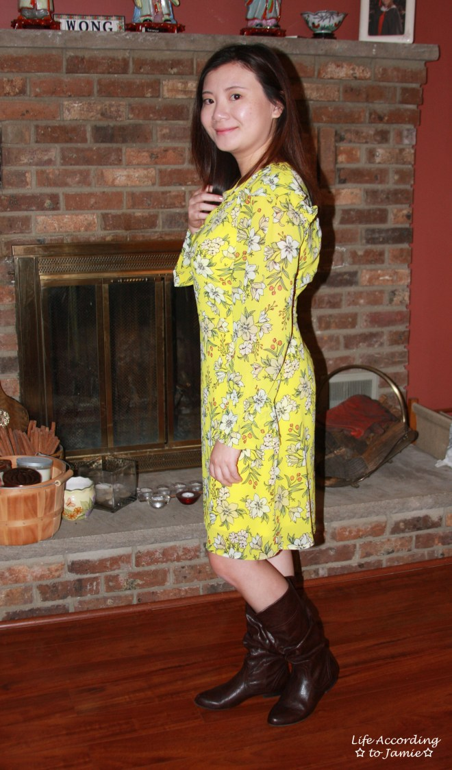 Yellow Floral Shift Dress 5