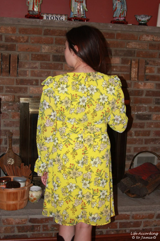 Yellow Floral Shift Dress 8
