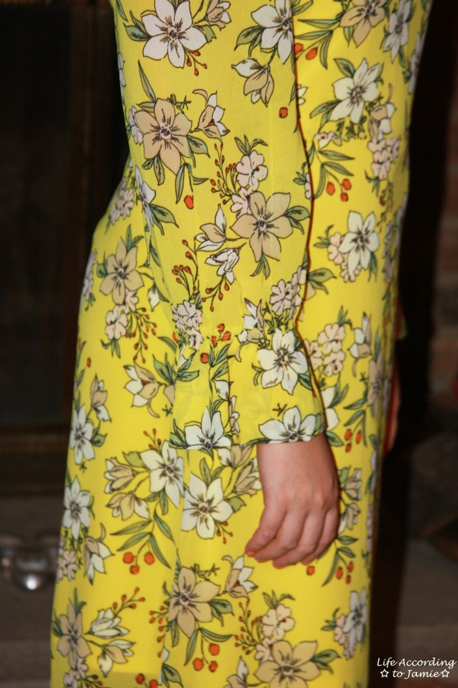 Yellow Floral Shift Dress 9