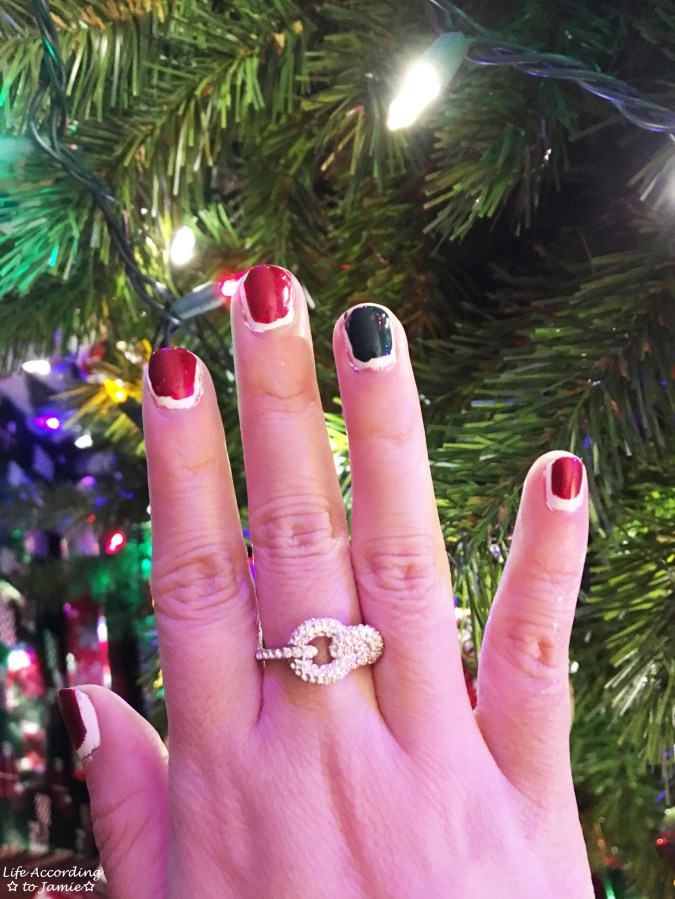 Christmas Ruffian nails 1