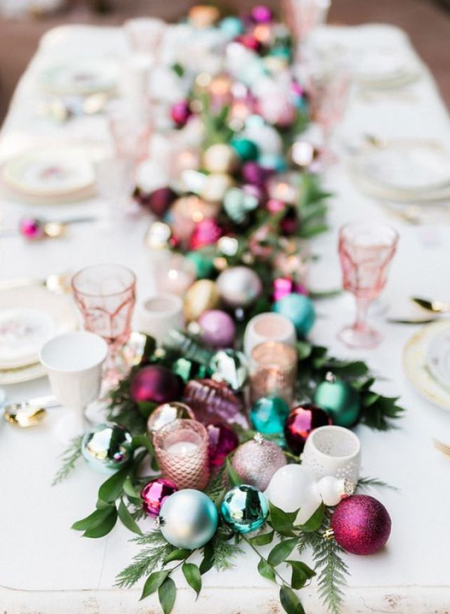Christmas Tablescape - Ornaments