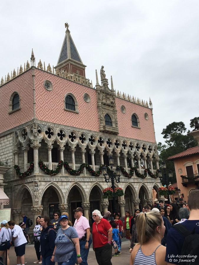 Epcot - Italy Christmas Decorations 1