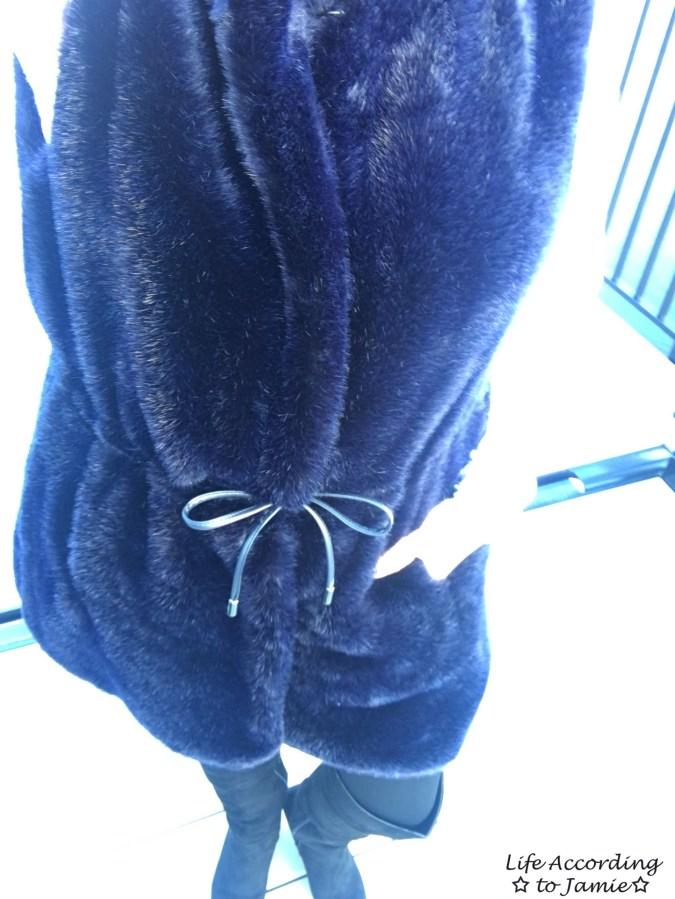 Faux Fur Drawstring Vest 7