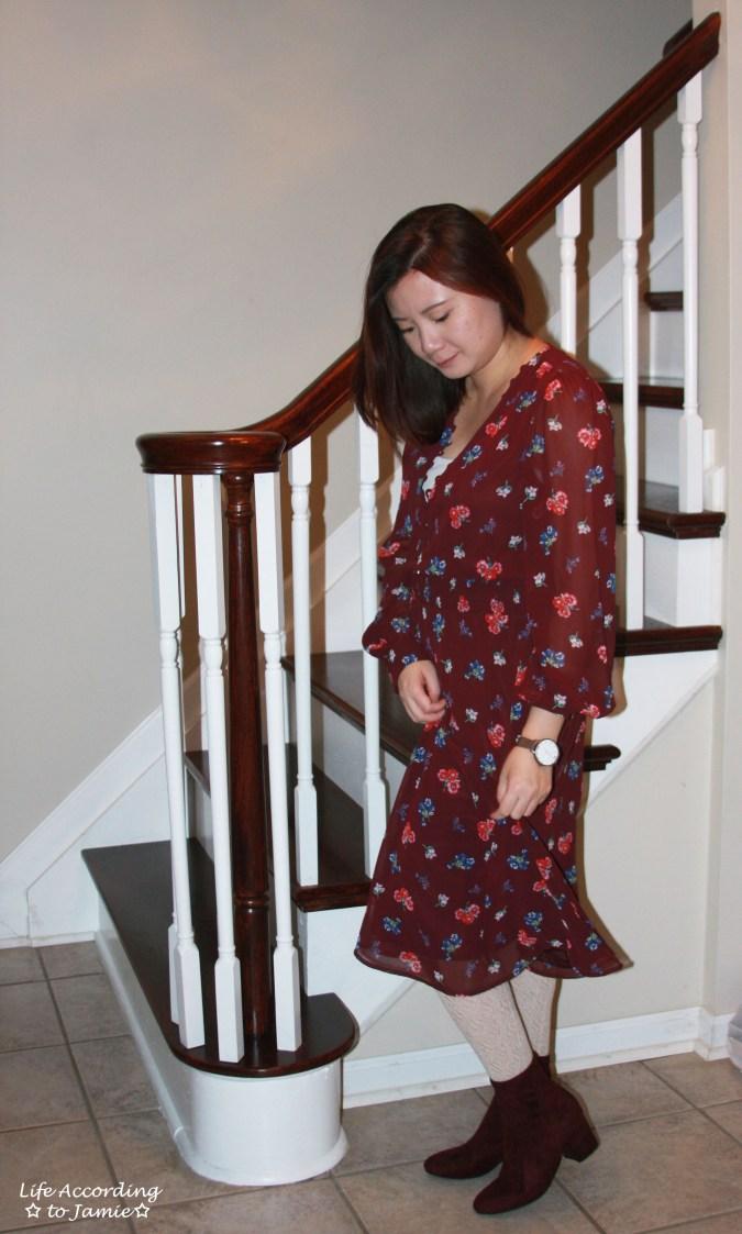 Floral Smocked Waist Midi Dress 5