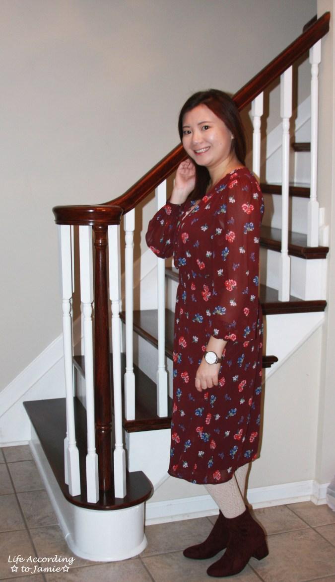 Floral Smocked Waist Midi Dress 6