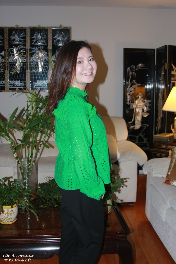 Green Broderie Lace Smock Top 6