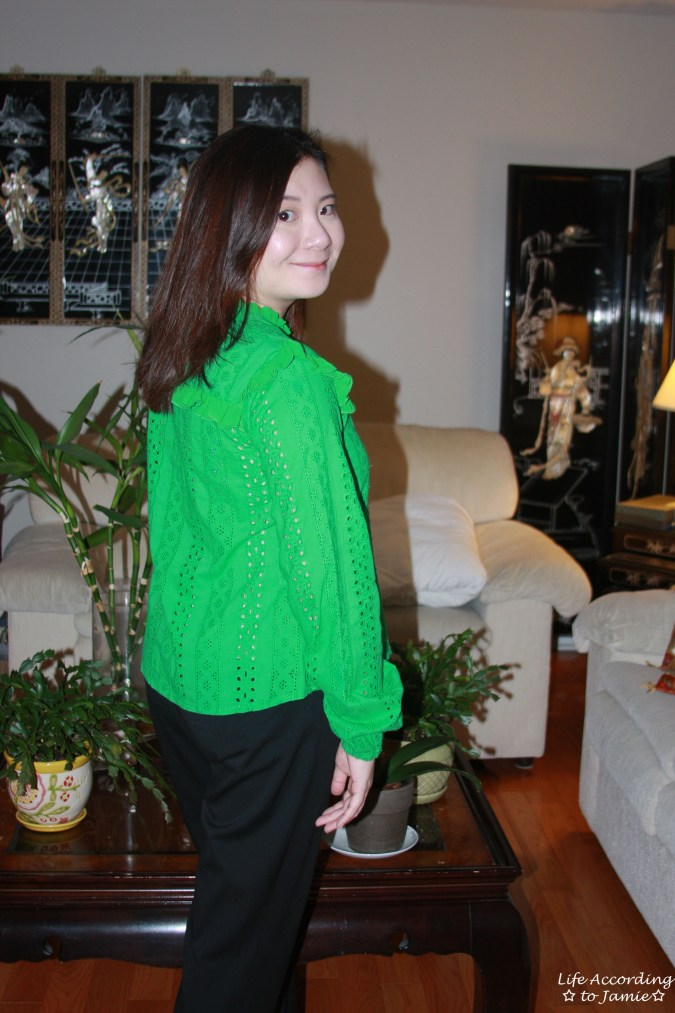 Green Broderie Lace Smock Top 8
