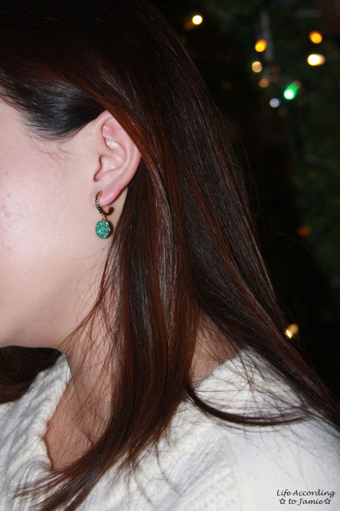 Kate Spade - Green Pave Drop Earrings