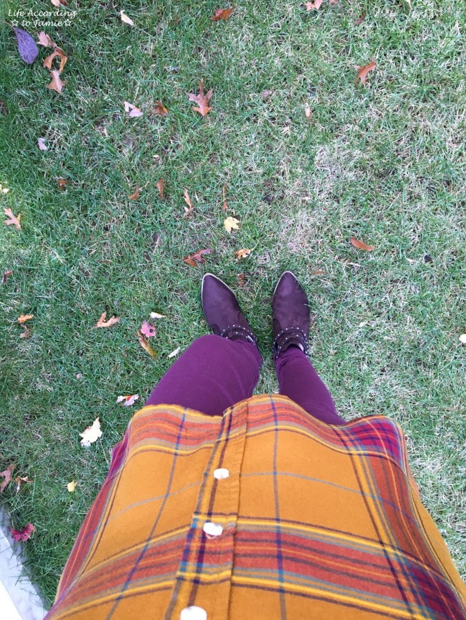 Mustard Plaid Tunic 2