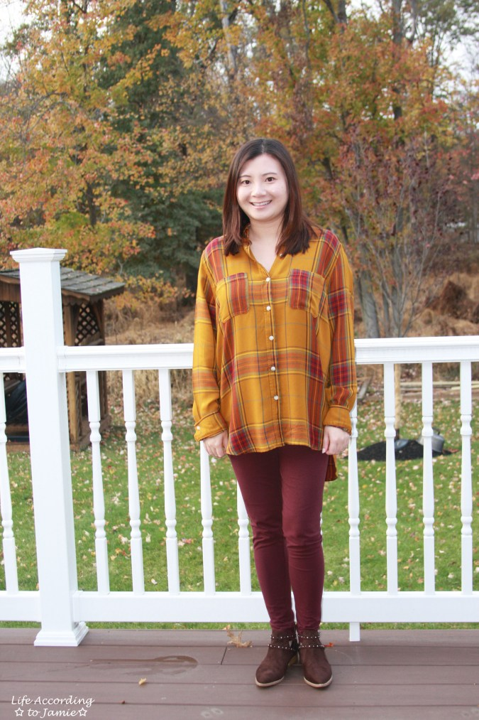 Mustard Plaid Tunic 4