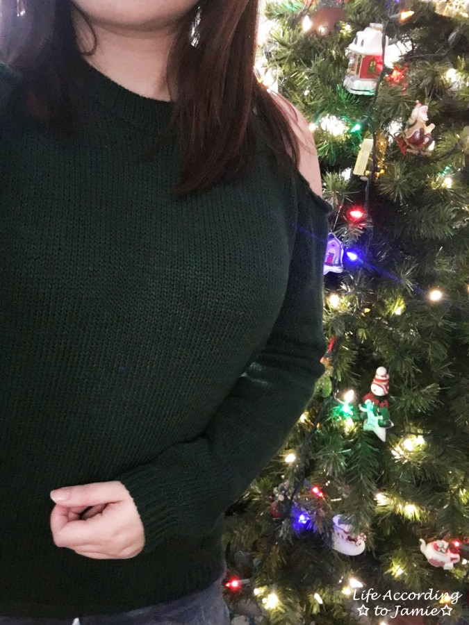 Pine Green Cold Shoulder 8