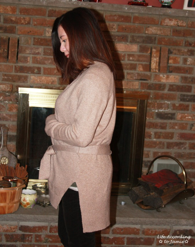 Taupe Sand Belted Cardigan 10