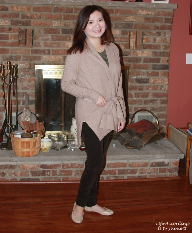 Taupe Sand Belted Cardigan 6
