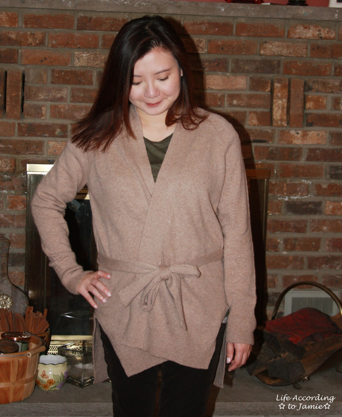 Taupe Sand Belted Cardigan