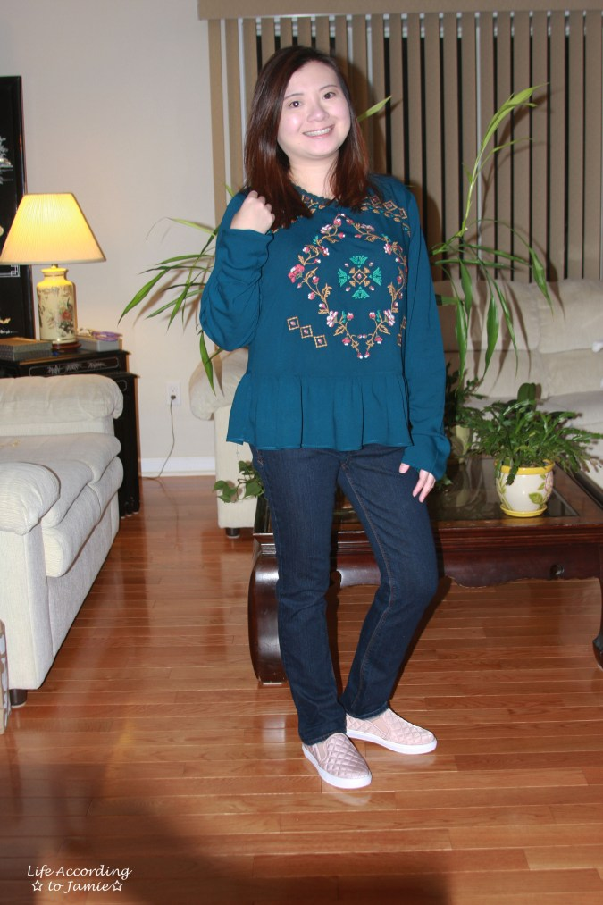 Teal Embroidered Peplum 7