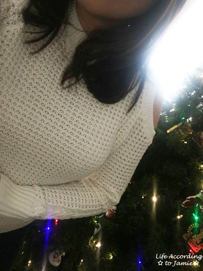 White Cold Shoulder Sweater 10