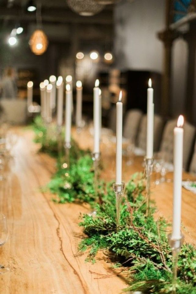 christmas tablescape - candlesticks