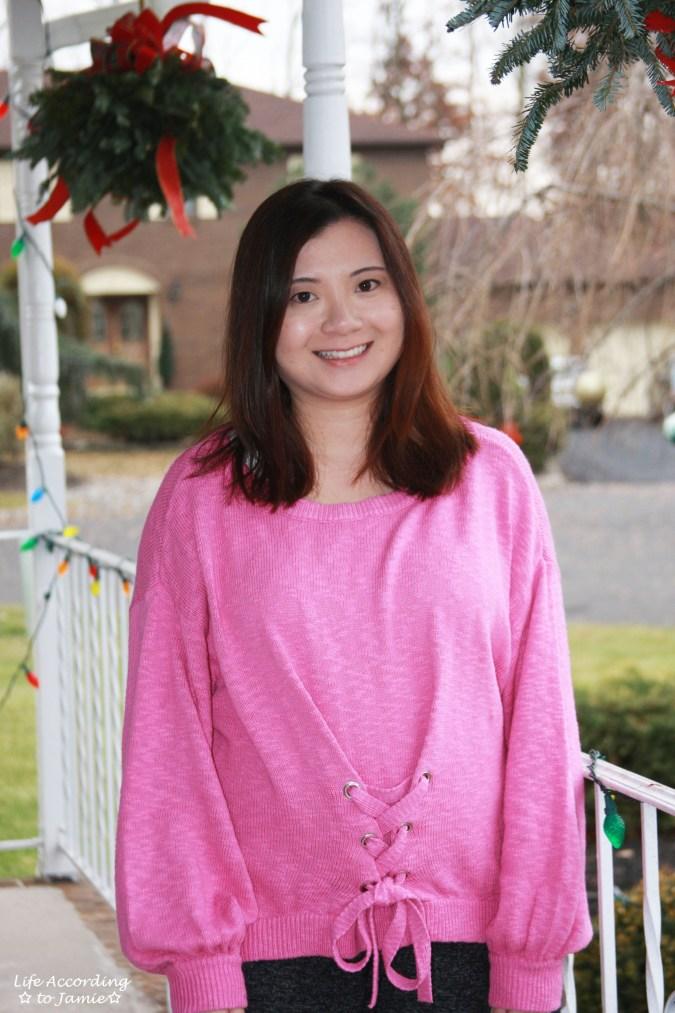 Balloon Sleeve Corset Sweater 3