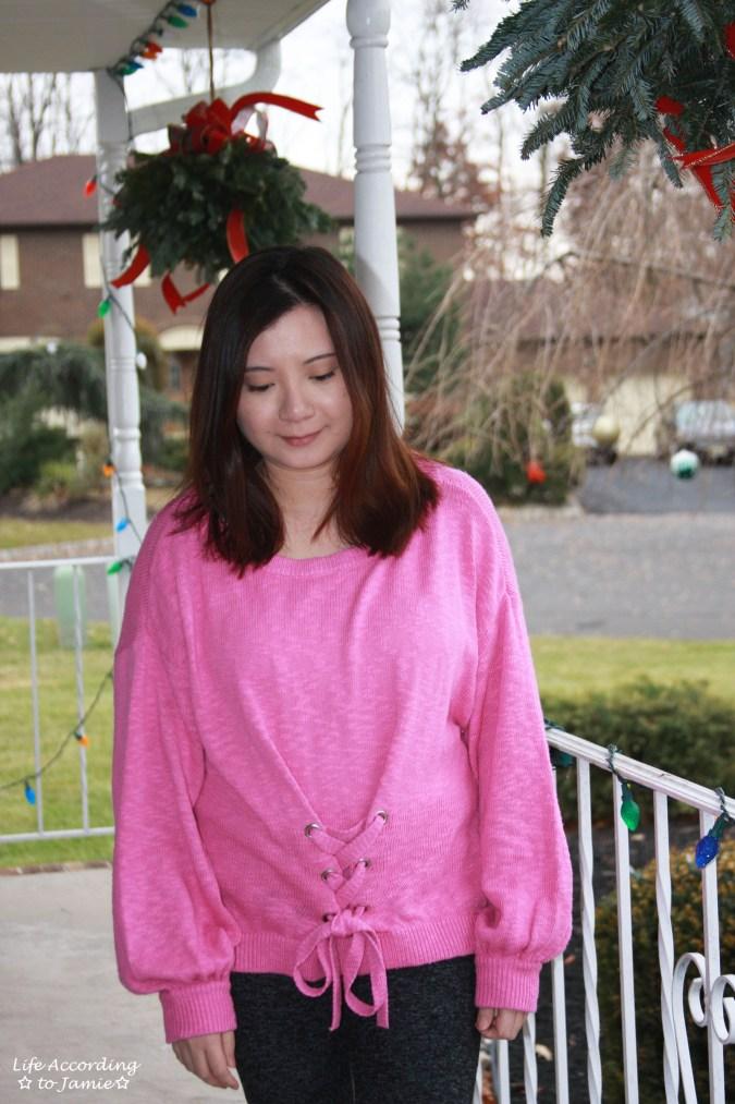Balloon Sleeve Corset Sweater 4