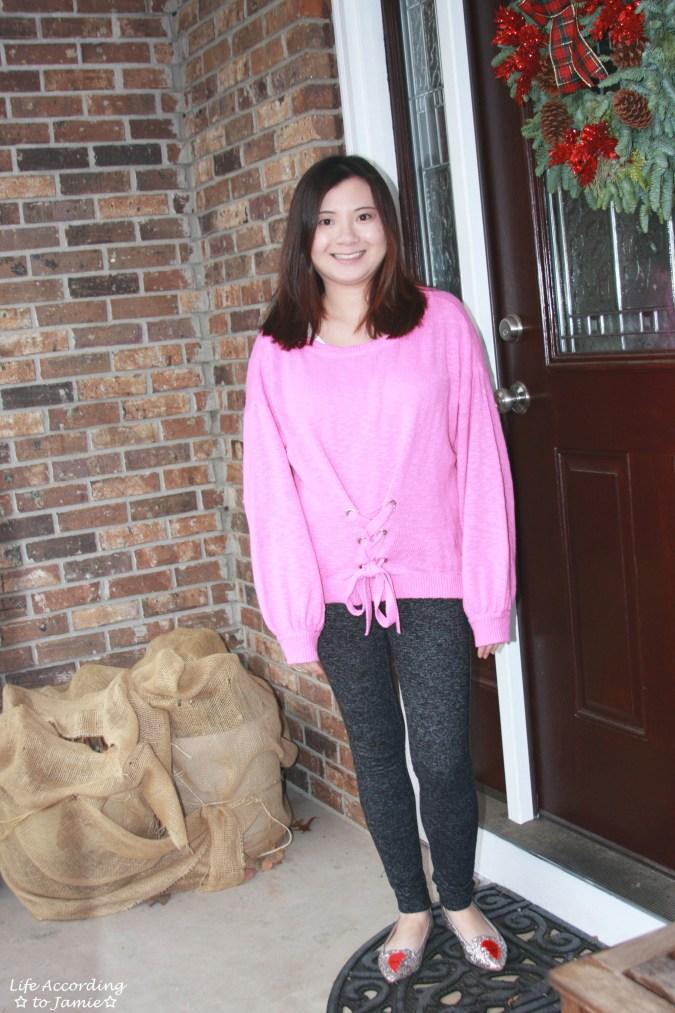 Balloon Sleeve Corset Sweater 6