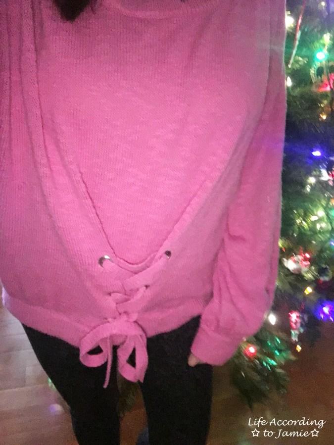 Balloon Sleeve Corset Sweater 7