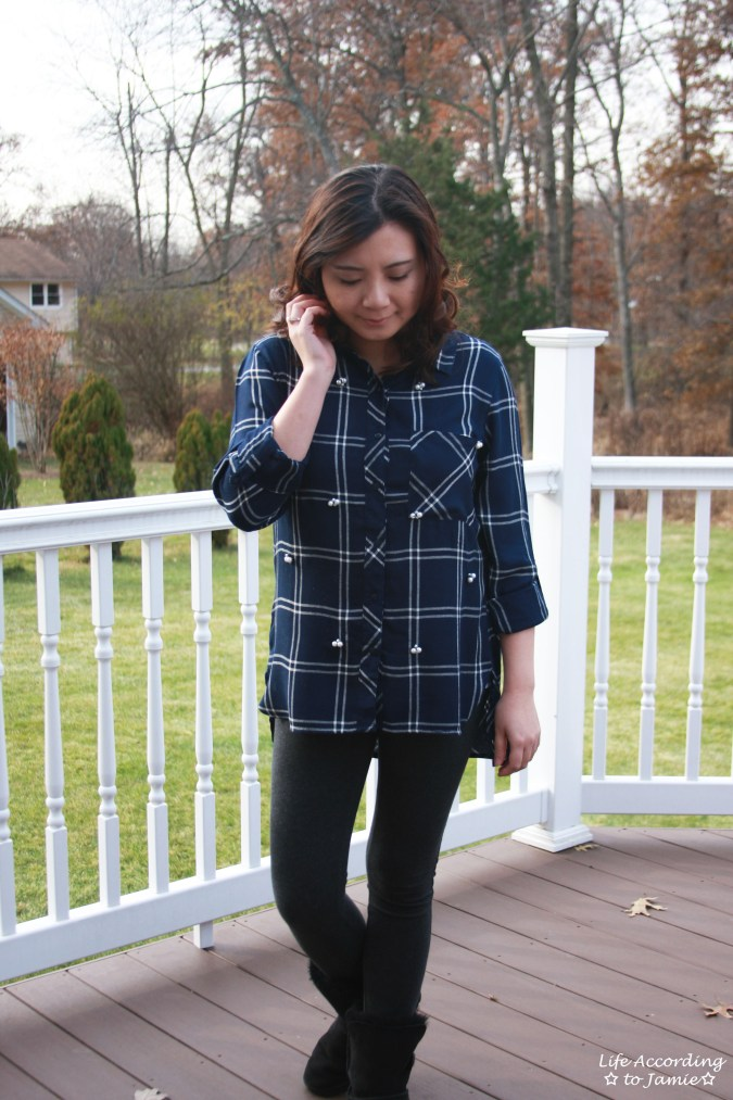 Pearl Embellished Plaid 7