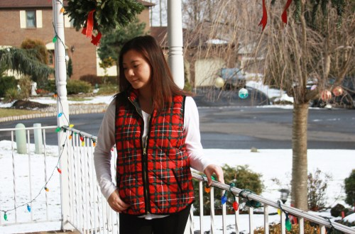Red & Green Plaid Vest