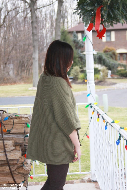 Sequins Stripe Tee + Khaki Chunky Knit 8