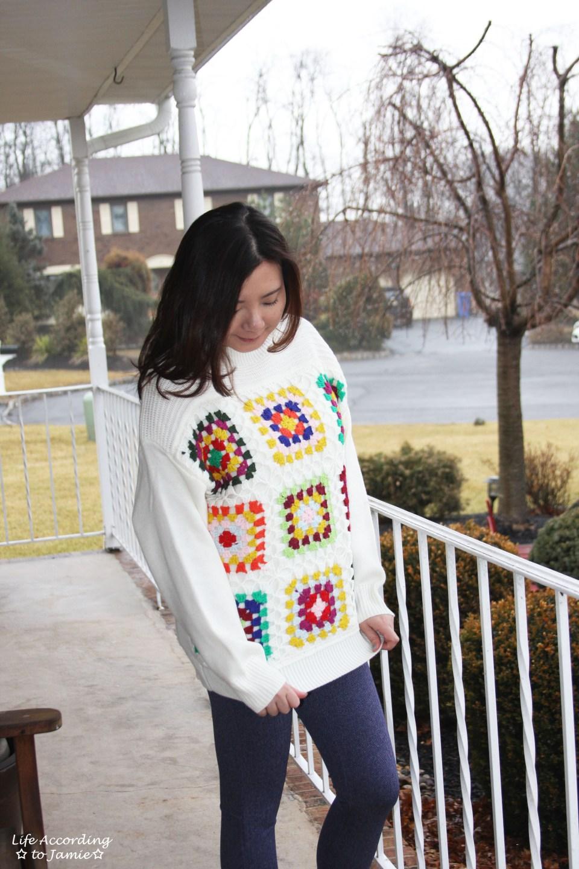 Boho Charm Crochet Knit Sweater 10