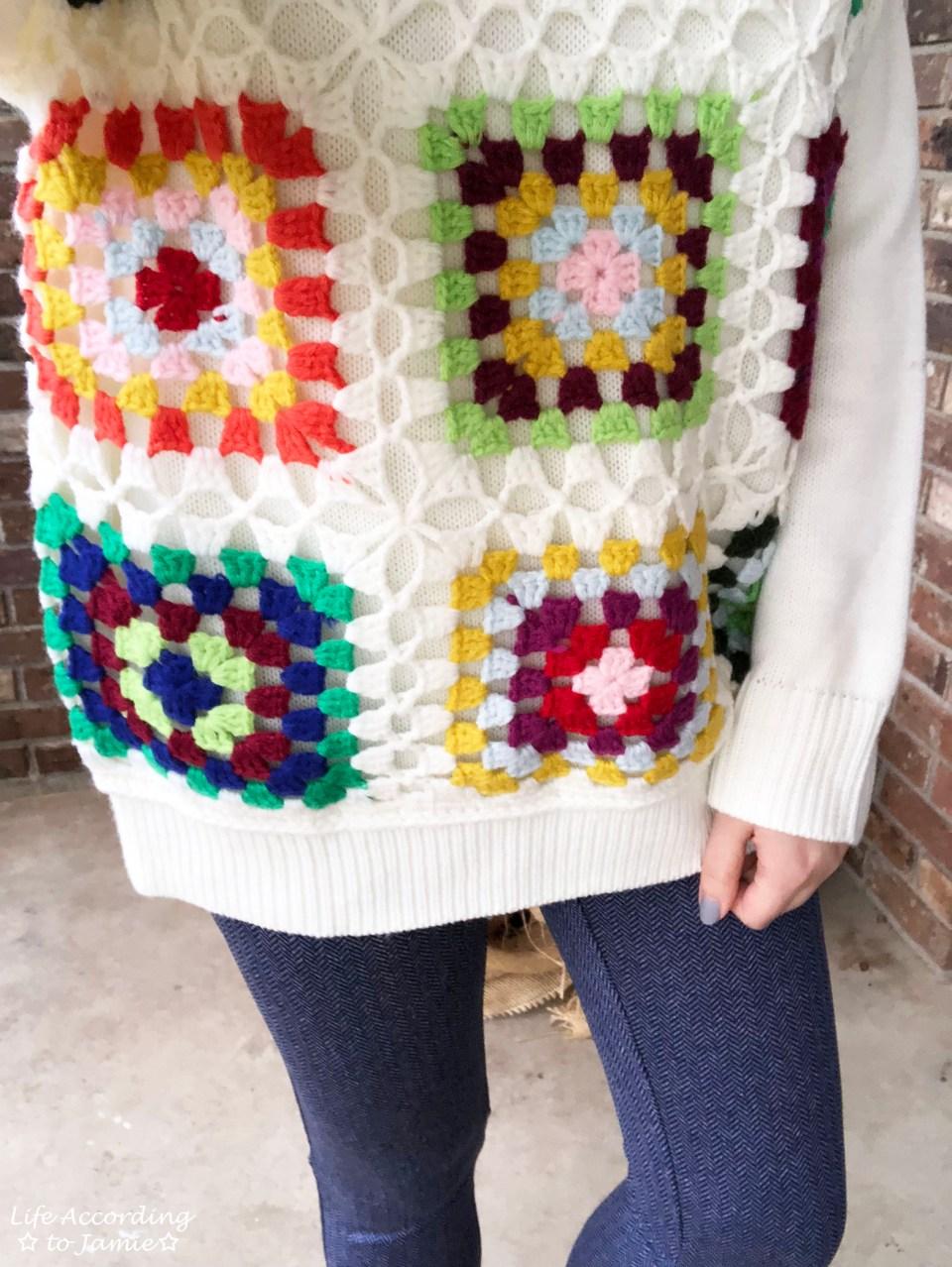 Boho Charm Crochet Knit Sweater 3