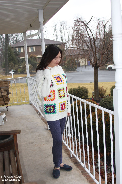 Boho Charm Crochet Knit Sweater 6