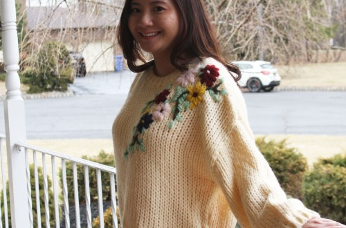 Flowering Branch Chunky Knit