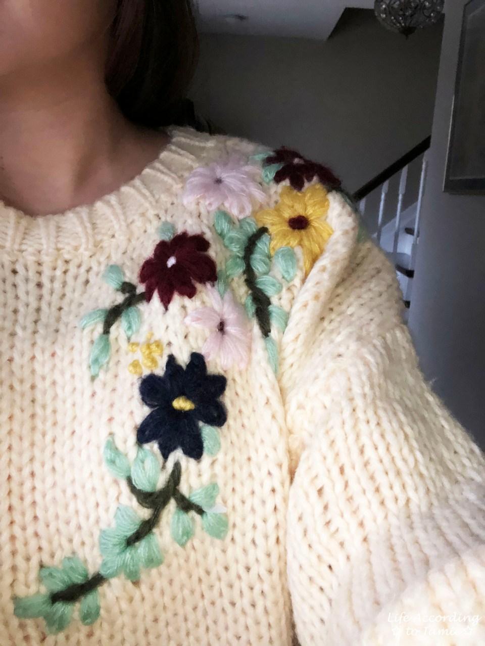 Flowering Branch Chunky Knit 3