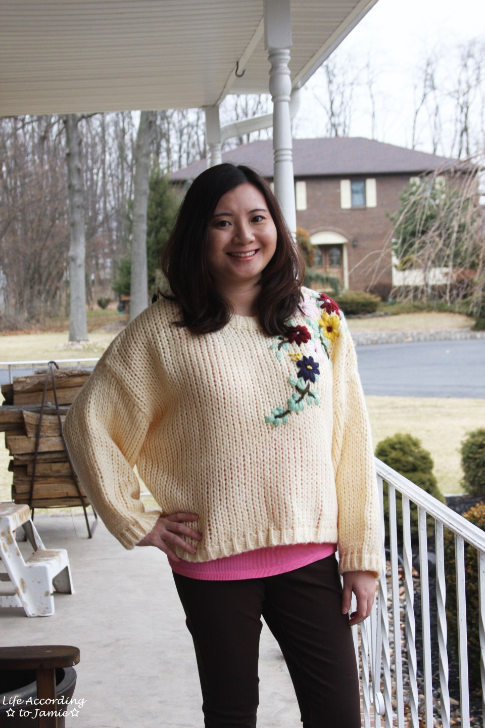 Flowering Branch Chunky Knit 7