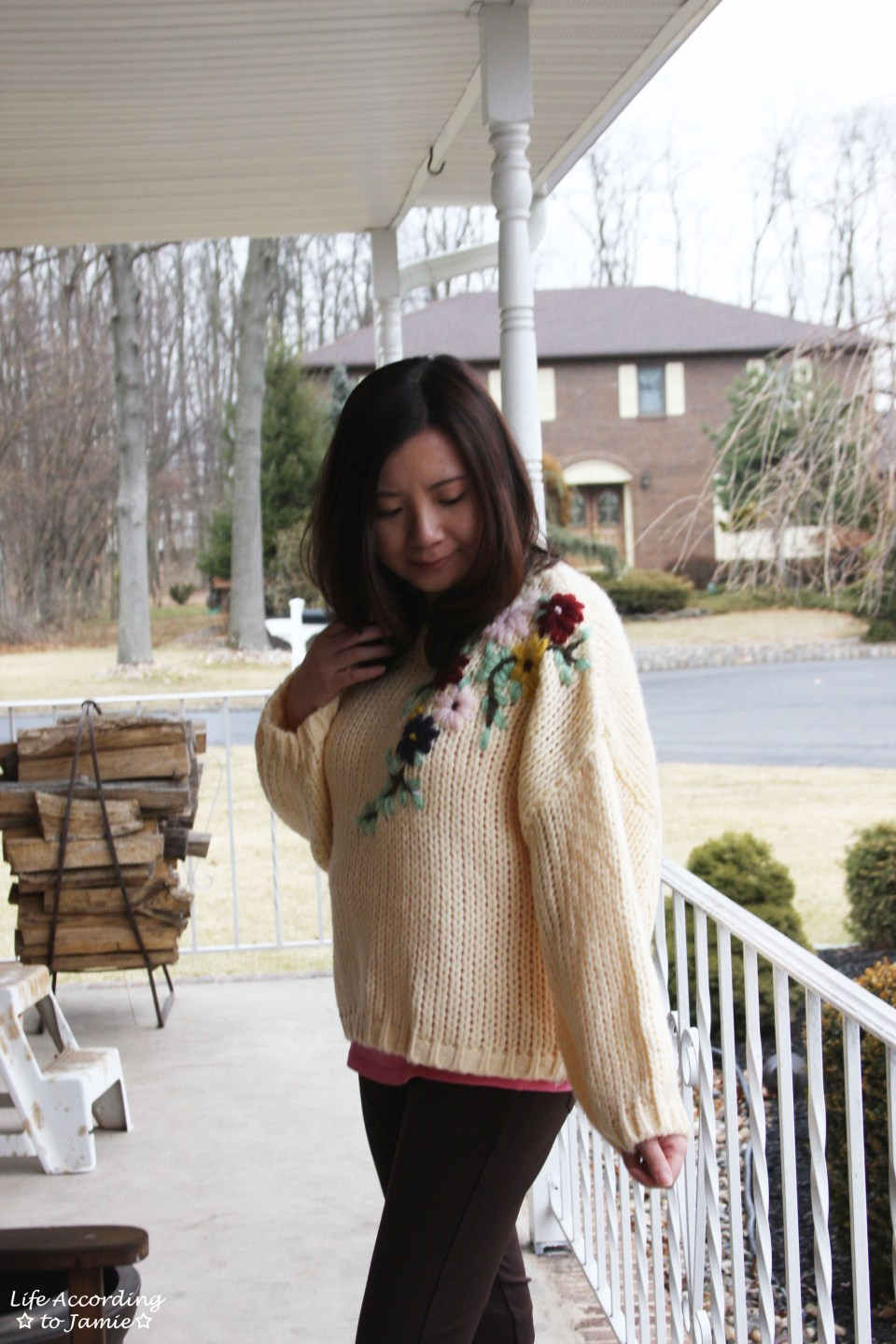 Flowering Branch Chunky Knit 8