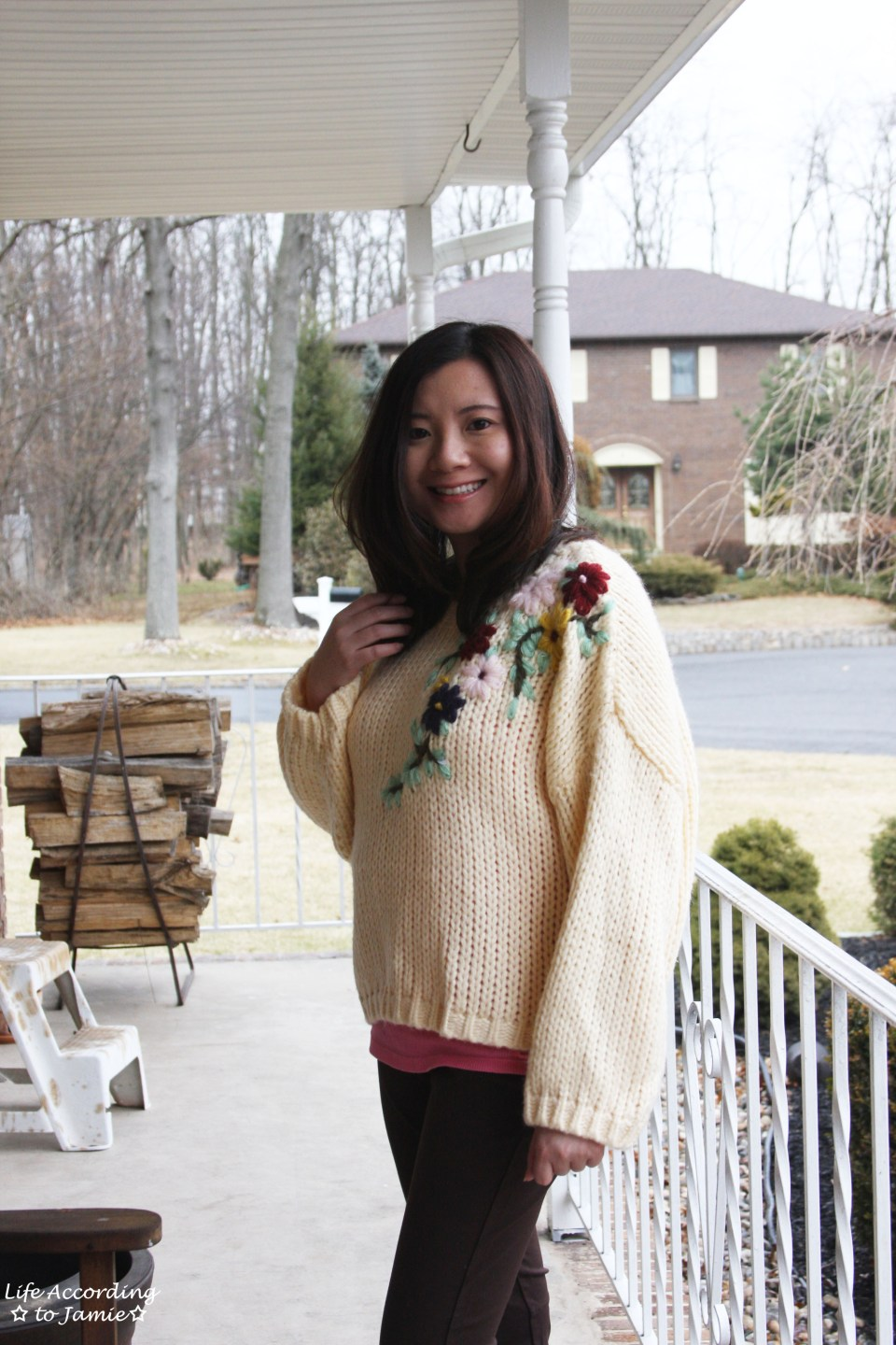 Flowering Branch Chunky Knit 9