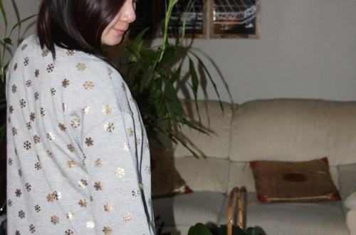 Gold Snowflake Sweatshirt