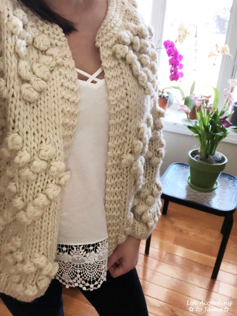 Knit Your Love Pompom Cardigan 2