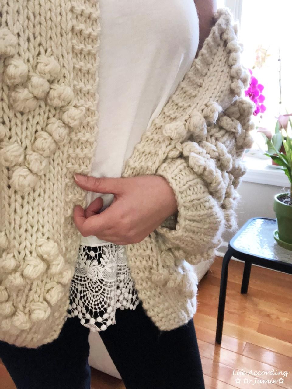 Knit Your Love Pompom Cardigan 3