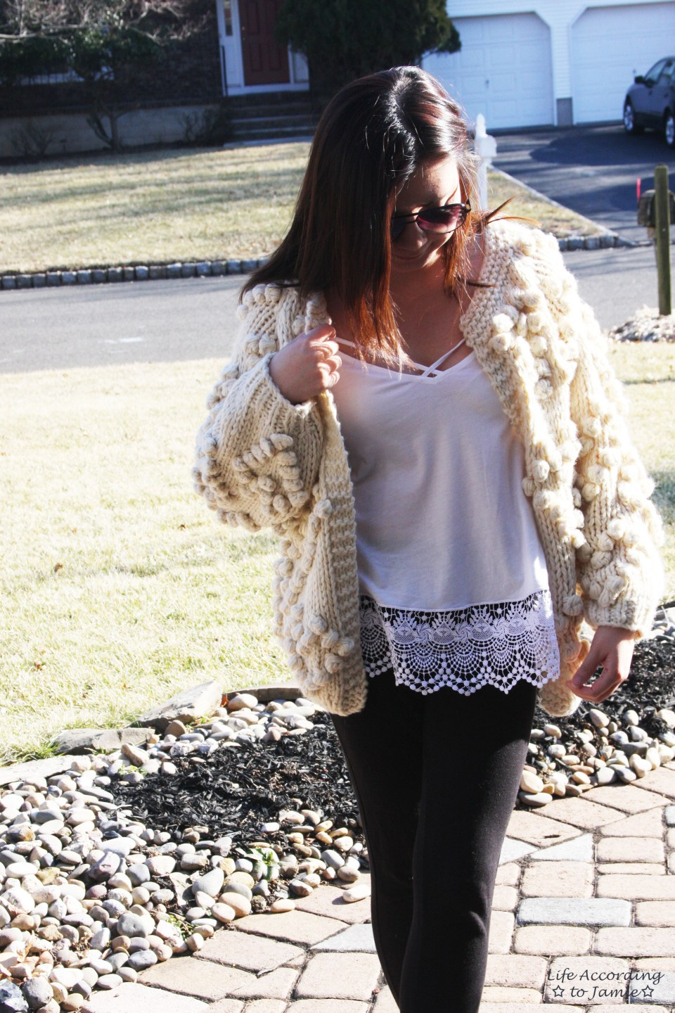 Knit Your Love Pompom Cardigan 9