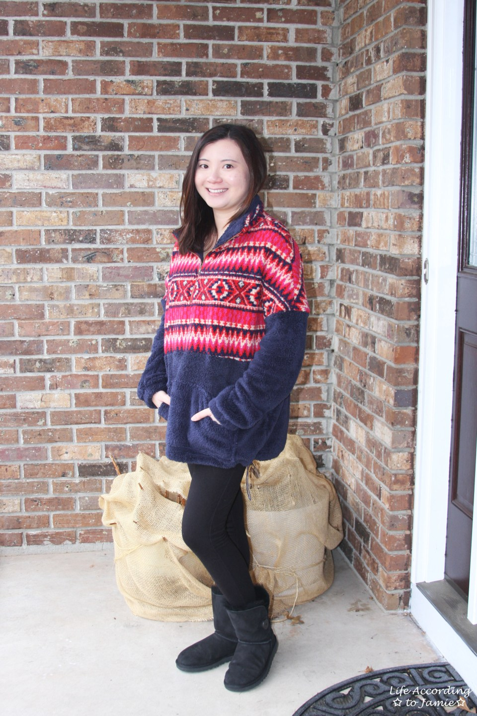 Navy & Red Pullover 10