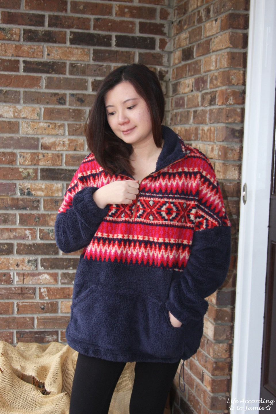 Navy & Red Pullover 8