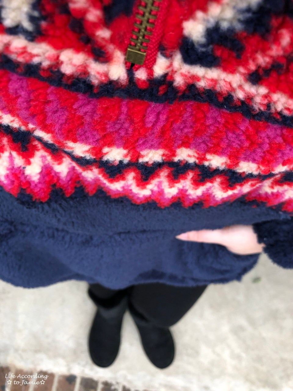 Navy & Red Pullover