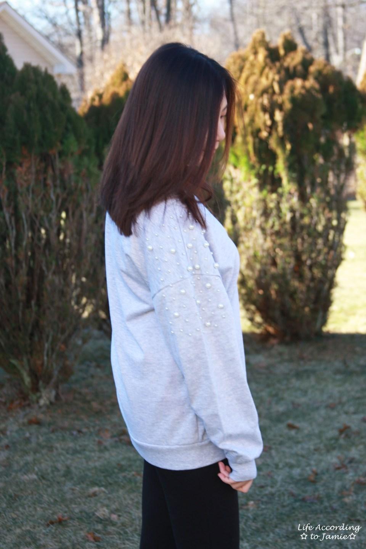 Pearl Embellished Sweatshirt 7