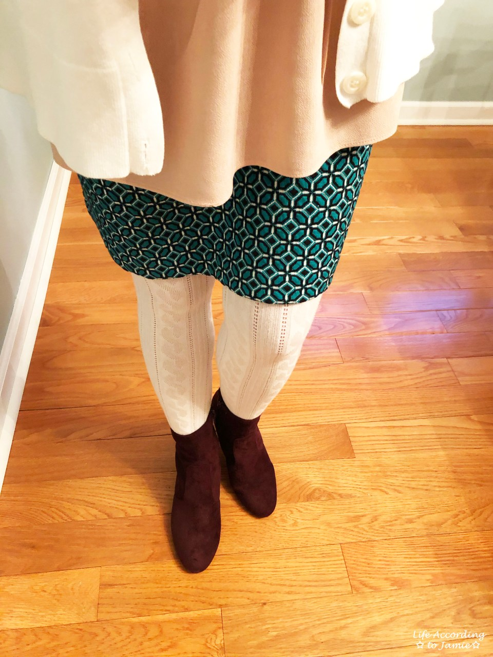 Tiled Jacquard Skirt 3