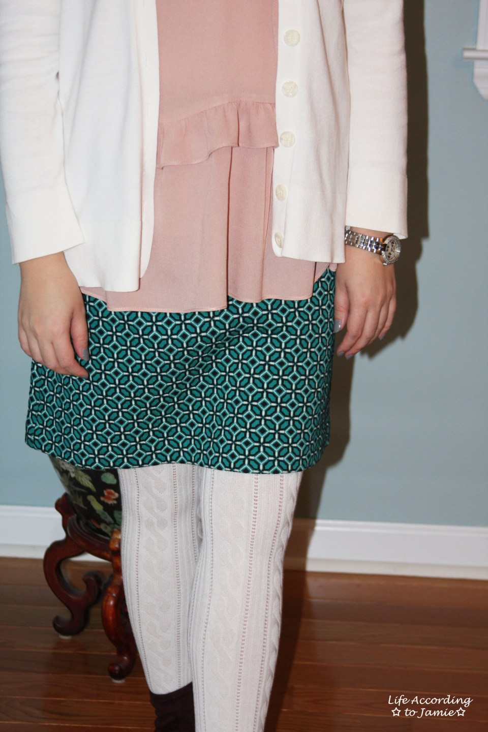 Tiled Jacquard Skirt 6