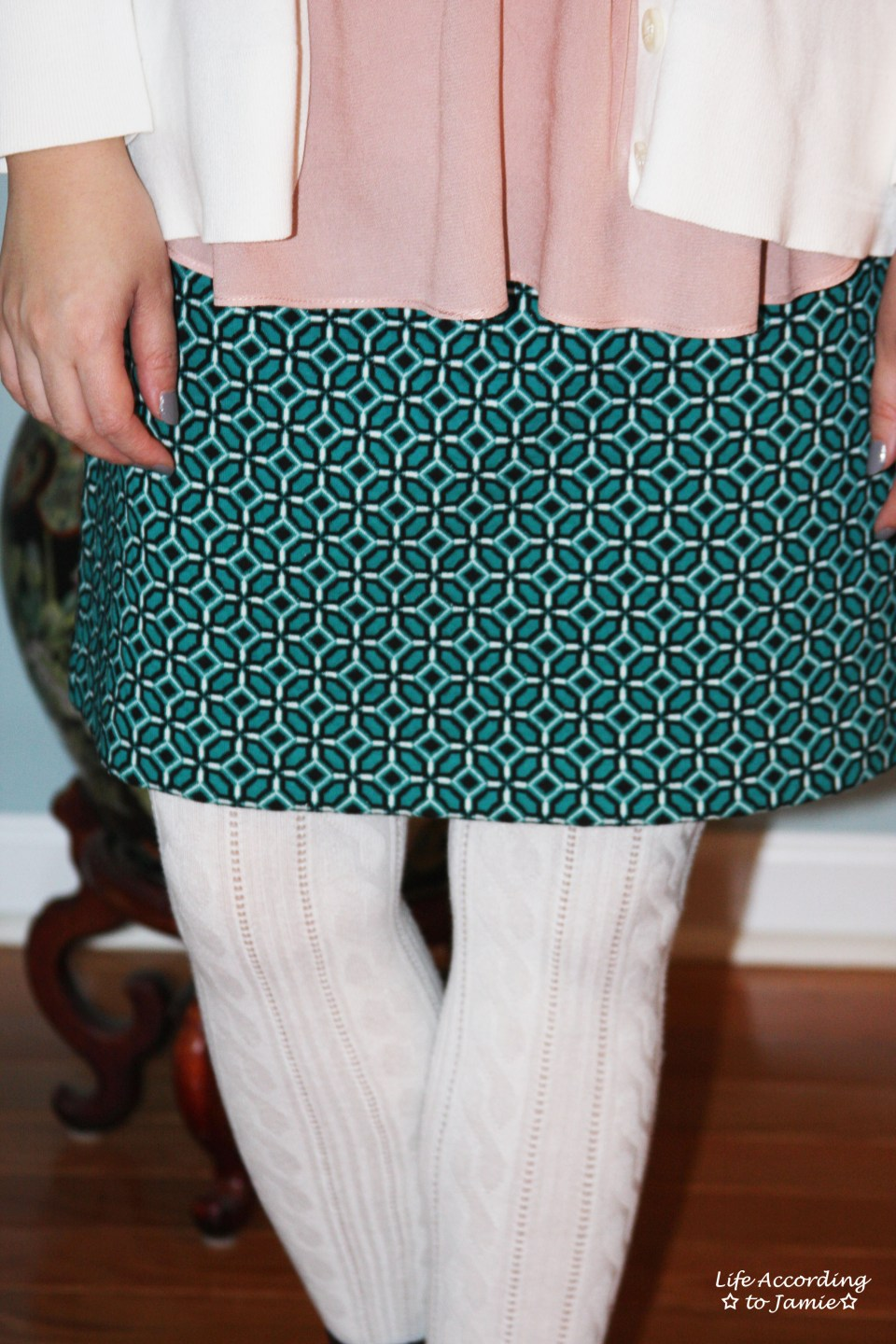 Tiled Jacquard Skirt 7