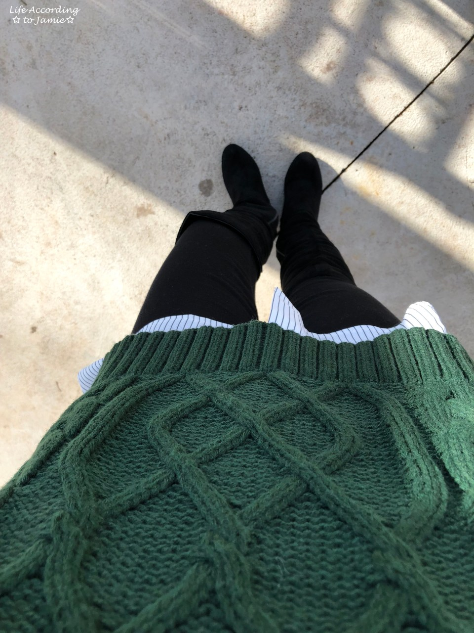Two-Piece Cable Knit + Collared Shirt 12