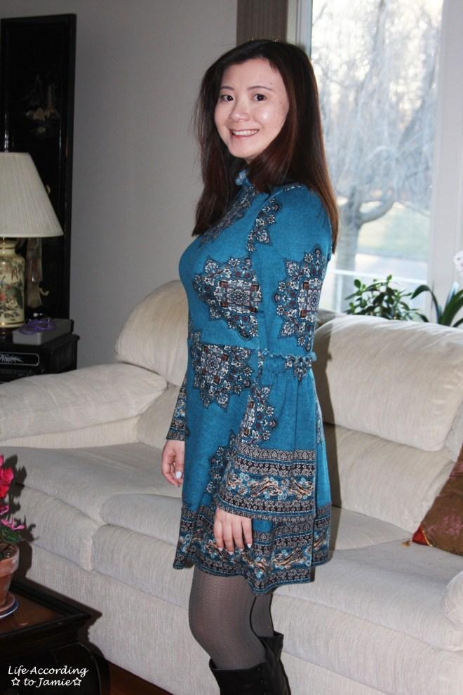 Bell Sleeve Fleece Dress 10